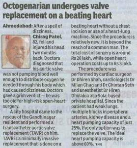 Times of India (Ahd) CIMS Hospital (Heart Valve replacement) 16.04.15 Pg 04